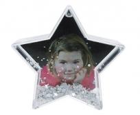 Dörr csillag hógömb ezüst csillagokkal