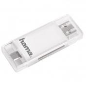 Hama mobil-tablet  kártyaolvasó SD micro SD fehér