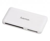 """Hama USB 3.0 Superspeed """"Slim"""" Multi kártyaolvasó fehér"""