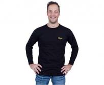 Nikon hosszú ujjú  póló fekete sárga logóval M méret