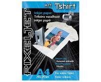 Pixeljet Art Tshirt white fehér pólóra vasalható fólia