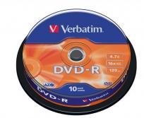 Verbatim DVD-R lemez, AZO, 4,7GB, 16x, hengeren 10db-os
