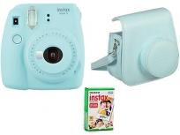 Fujifilm Instax Mini 9+ Film+ Tok Ice blue kit