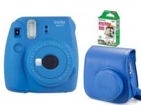 Fujifilm Instax Mini 9 + Film + Tok kobalt kék kit