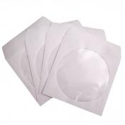 CD/DVD boríték, papír, ablakos, fehér