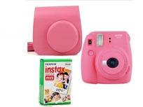 Fujifilm Instax Mini 9+ Film+ Tok rózsaszín kit