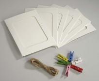 Hama 10X15 6db papír keret csipesszel, zsinórral