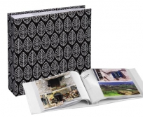 Hama 10x15/200 memo Fleur fekete fotóalbum