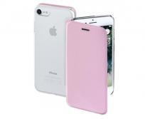 Hama Iphone 7 Booklet Case Clear rózsaszín tok