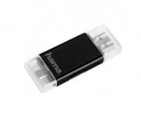 Hama mobil-tablet kártyaolvasó SD-micro SD fekete
