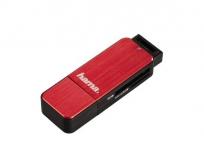 Hama USB 3.0 SD/microSD vörös kártyaolvasó