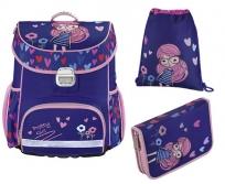 Hama iskolatáska 3db-os szett Rózsaszín lány