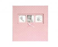 Innova 10x15/200db-os Polka fotóalbum rózsaszín