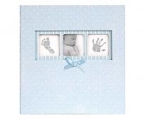 Innova 10x15 200db-os Polka kék fotóalbum