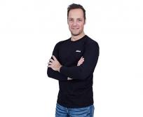 Nikon hosszú ujjú póló fekete fehér logóval L méret