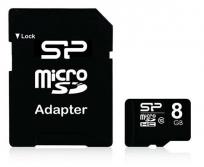 Silicon power 8Gb micro SDHC  + SD adapter Class 10
