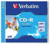 Verbatim CD-R lemez, nyomtatható, matt 700Mb 52x normál tok