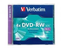 Verbatim DVD-RW  újraírható lemez 4x normál tokos