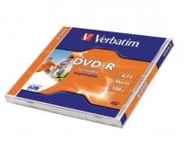 Verbatim DVD-R lemez, nyomtatható, matt, ID, 4,7GB, 16x, normál